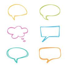 Colorful Doodle Speech Bubbles...