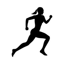 Running Woman Flat Icon For Ex...