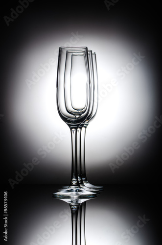 Poster  champagne glasses