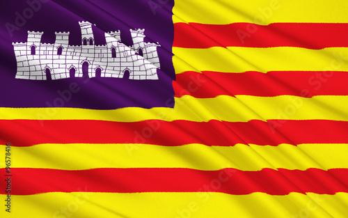 Flag of Balearic Islands, Spain