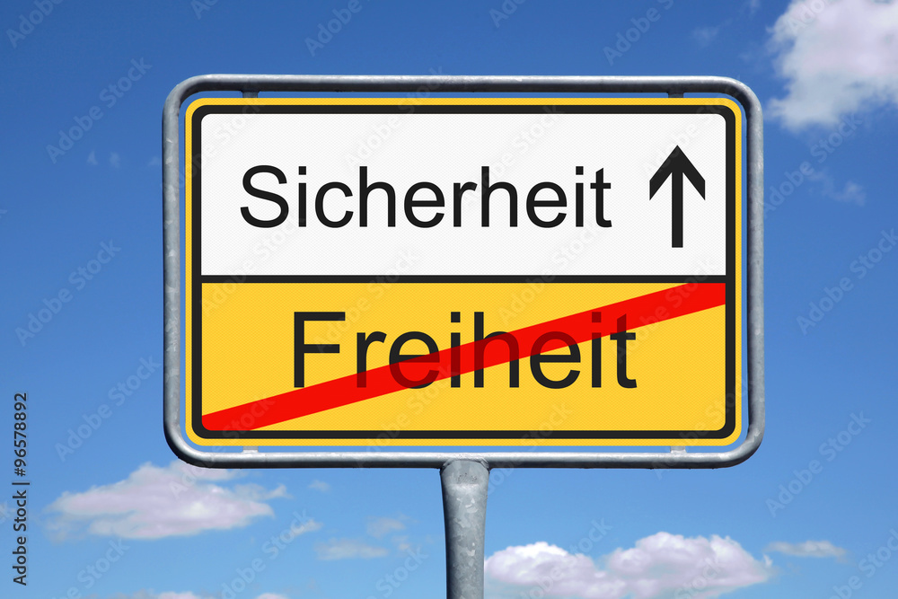 Sicherheit / Freiheit Foto, Poster, Wandbilder bei EuroPosters