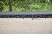 Close-up Asphalt At The Road U...