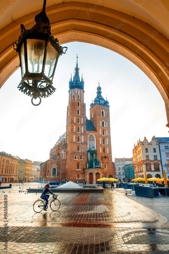 Obraz Market square in Krakow fototapeta, plakat