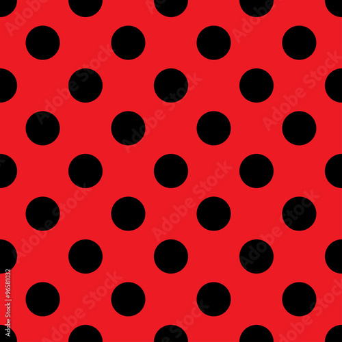 Polka Dot Seamless Pattern Abstract Fashion Red And Black Texture Casual Stylish Template