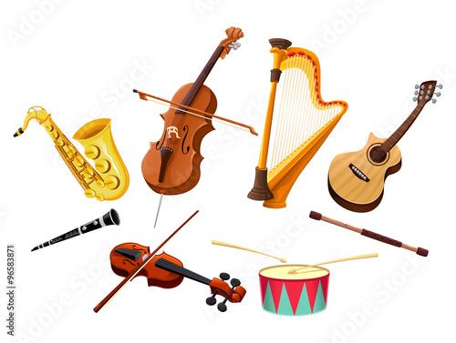 Poster Chambre d enfant Musical instruments