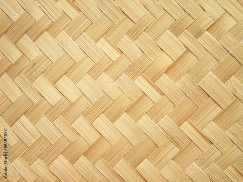 Fotografía  close up woven bamboo pattern