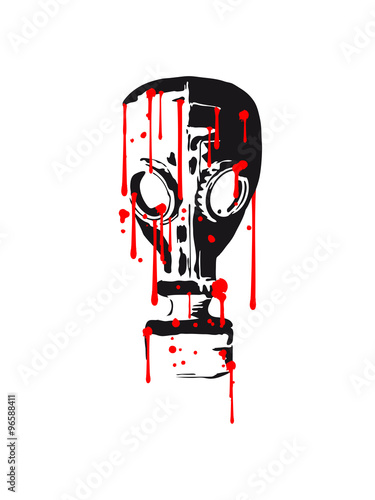 Photo  cool gas mask pattern design tattoo