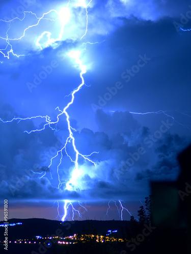 Printed kitchen splashbacks Storm Tempesta di fulmini