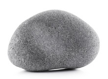 Gray Stone Isolated