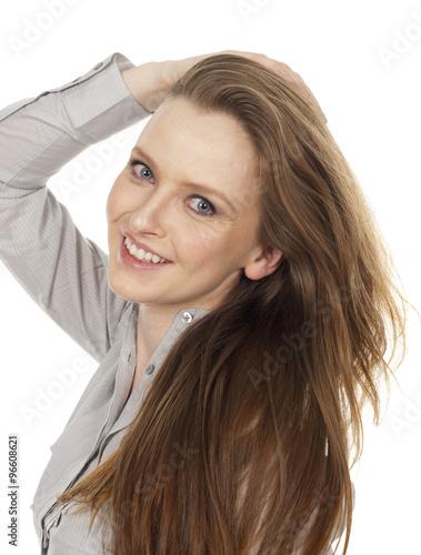 Fotografie, Obraz  Woman Smiling Head Tilted