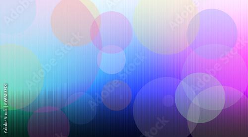 Fotografie, Obraz  Sfondo arcobaleno con cerchi