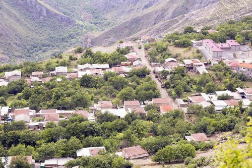 Foto op Plexiglas Groene Village is in the mountains, the landscape.