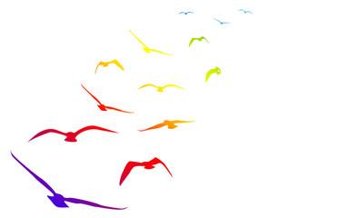 Naklejkagabbiani, volare, volo, arcobaleno, pace