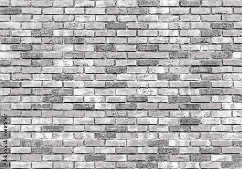 Fototapeta brick wall texture or background, gray
