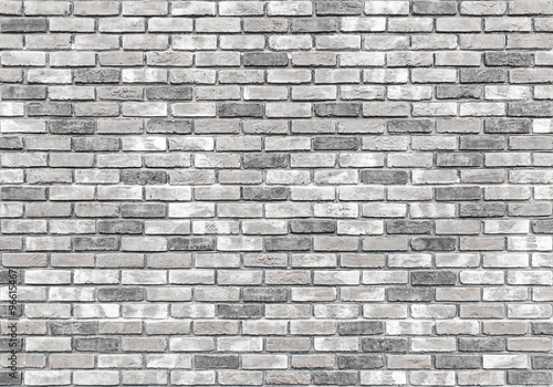 Fotobehang Baksteen muur brick wall texture or background, gray
