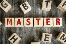 Wooden Blocks With The Text: Master