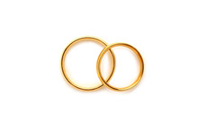 Golden Wedding Rings Isolated ...