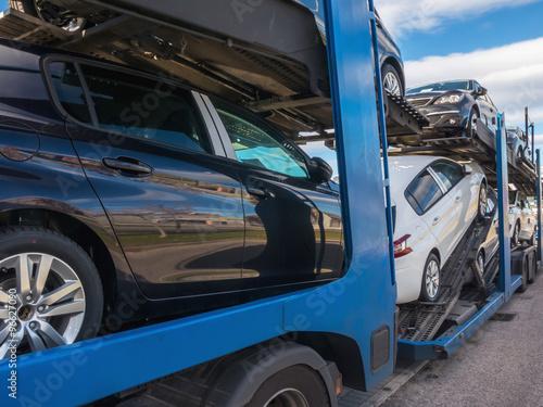 Photo  Truck car carrier