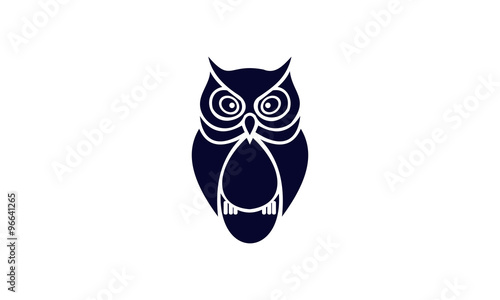 Poster Uilen cartoon owl birds