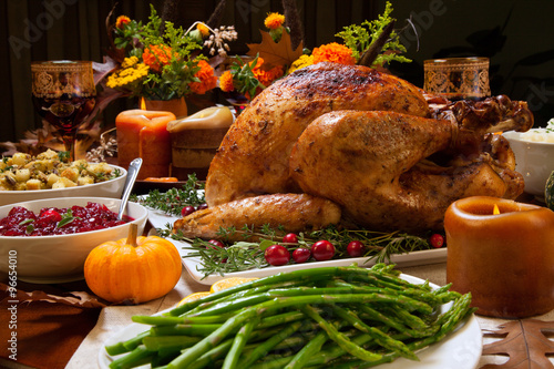Fotomural Rustic Thankgiving Dinner
