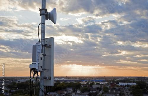 Fotografía  Cellular antenna on the pole