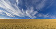 canvas print picture - Cirrus clouds in the mountains Khizi.Azerbaiajan