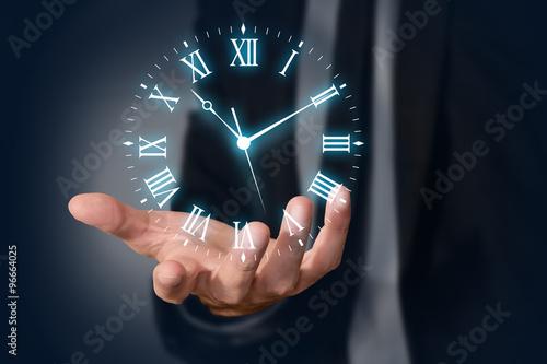 mano, dito, tempo, orologio, orologi