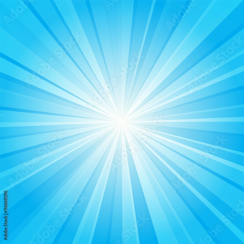 Fotografie, Obraz  blue ray background