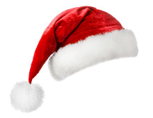 Santa Hat Isolated On White Ba...