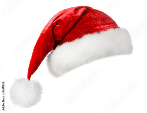 Photo  santa hat isolated on white background