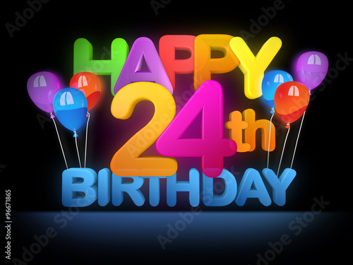 happy 24th birthday title dark buy this stock illustration and