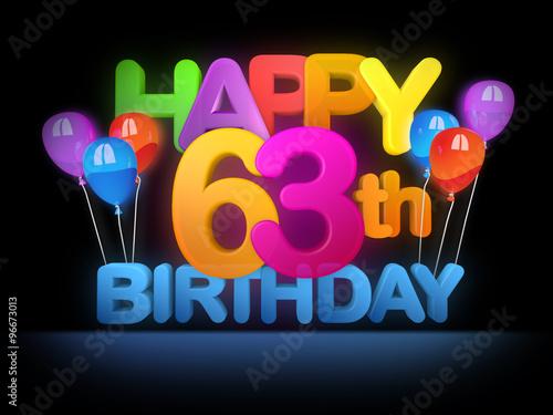 Fotografia  Happy 63rd Birthday Title dark