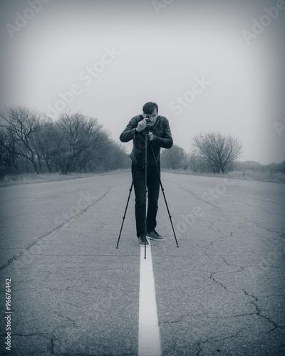 Valokuva  cameraman making a film