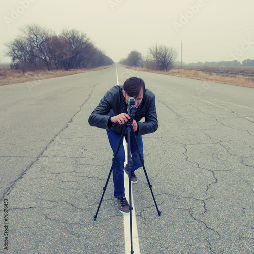 Fotografie, Obraz  Kameraman natočení filmu