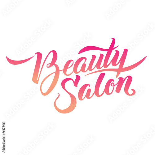 Obraz na plátně  Calligraphy Logo Beauty Salon