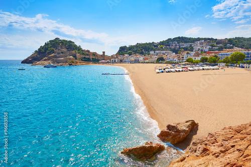 Tossa de Mar beach in Costa Brava of Catalonia