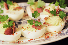 Deviled Eggs Appetizer With Av...