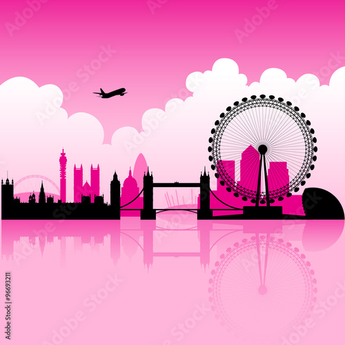 Photo  London Magenta Skyline