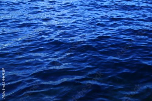 Poster Zee / Oceaan Water waves in the Moon light