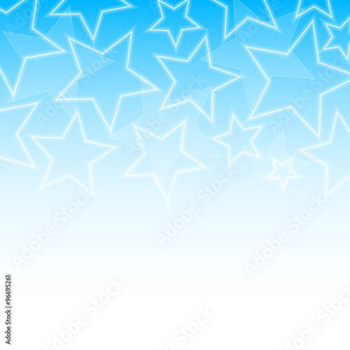 Wall mural - Abstract glowing stars colorful background