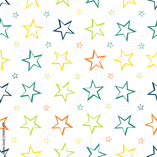 Fotobehang - Stars pattern seamless background