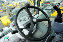 Working Place For The Driver Of The Forklift Truck
