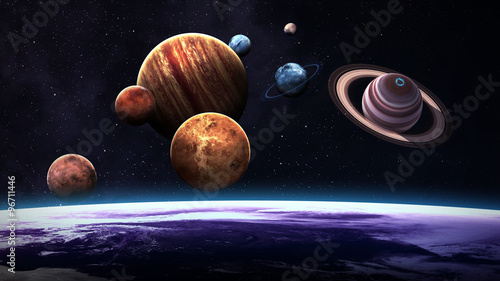 Photo High quality isolated solar system planets