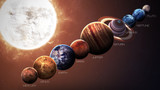 Fototapeta Kosmos - Hight quality isolated solar system planets. Elements of this image furnished by NASA