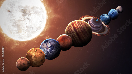 Fotografia, Obraz Hight quality isolated solar system planets