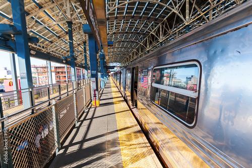 Photo  oberirdische Subway in Manhattan, New York City