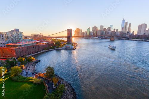 Sonnenuntergang in New York City Poster