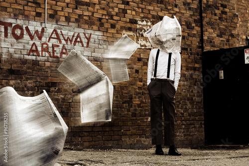 Fotografia, Obraz  Blinded By The News Headlines