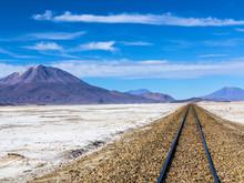 Railway In Desert Landscape, B...