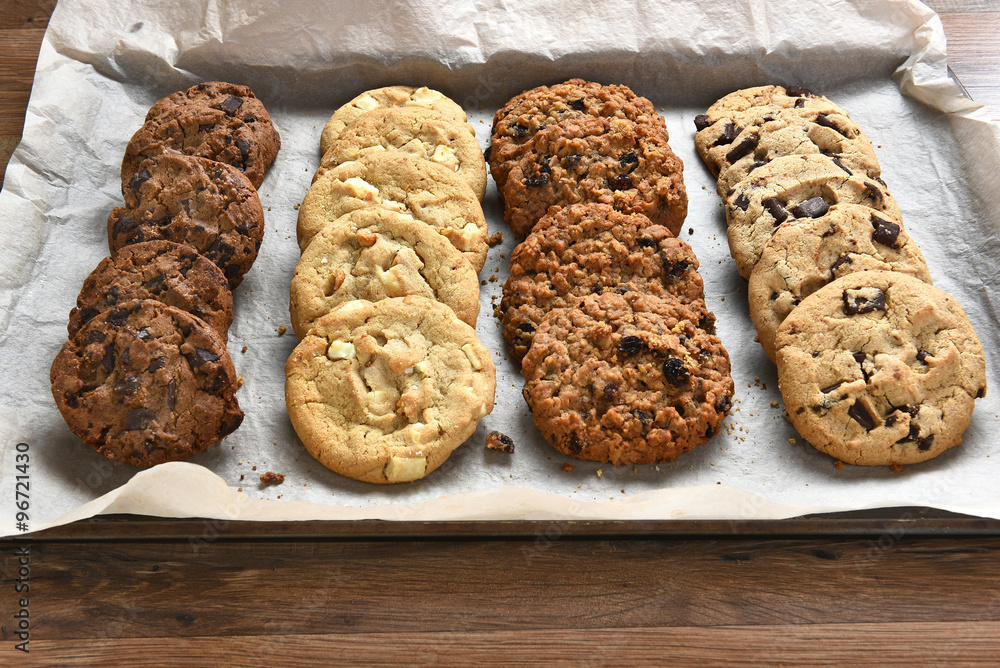 Photo  Tray of Fresh Baked Cookies